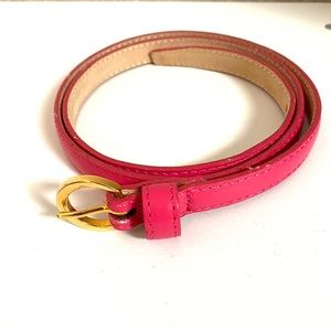 New BR pink gold hardware belt leather small